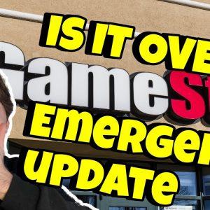 🚨GAMESTOP EMERGENCY UPDATE🚨 IS IT OVER???