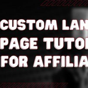 [GLIVE] Groove Affiliate Marketing Custom Landing Page Tutorial
