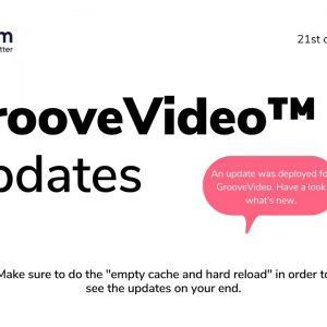 GrooveVideo Update September 2021