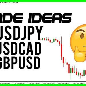 USDJPY USDCAD GBPUSD Trade ideas!