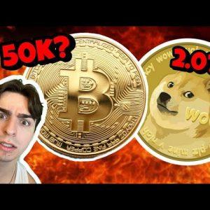 BITCOIN Battle For 50k! Dogecoin 2.0?!